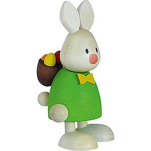 Kleine Figuren & Miniaturen Max & Emma (Hobler) Kaninchen Max mit Rucksack und Eiern - 9 cm