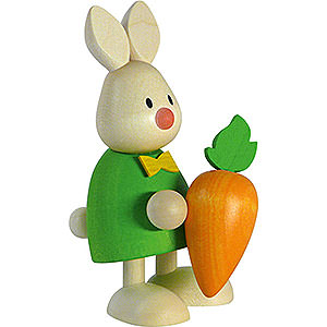 Kleine Figuren & Miniaturen Max & Emma (Hobler) Kaninchen Max mit großer Möhre - 9cm