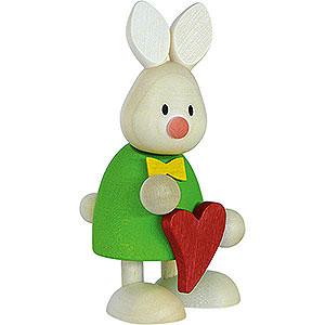 Kleine Figuren & Miniaturen Max & Emma (Hobler) Kaninchen Max stehend mit Herz - 9 cm