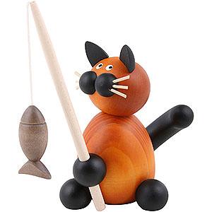 Kleine Figuren & Miniaturen Tiere Katzen Katze Bommel mit Fisch - 8 cm