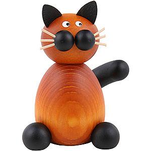 Kleine Figuren & Miniaturen Tiere Katzen Katze Bommel sitzend - 7cm