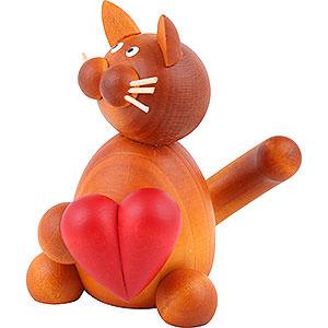 Kleine Figuren & Miniaturen Tiere Katzen Katze Charlie mit Herz - 8 cm