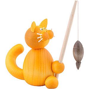 Kleine Figuren & Miniaturen Tiere Katzen Katze Emmi mit Fisch - 8cm