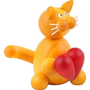 Kleine Figuren & Miniaturen Tiere Katzen Katze Emmi mit Herz - 8cm