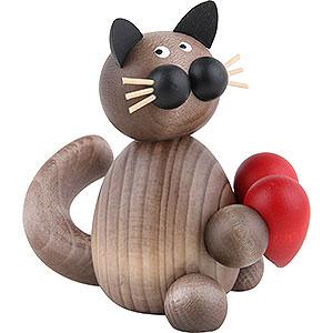 Kleine Figuren & Miniaturen Tiere Katzen Katze Karli mit Herz - 8cm