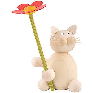 Kleine Figuren & Miniaturen Tiere Katzen Katze Moritz mit Blume - 8cm