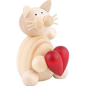 Kleine Figuren & Miniaturen Tiere Katzen Katze Moritz mit Herz - 8cm