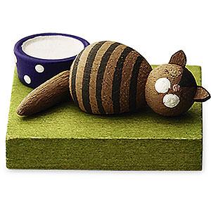 Weihnachtsengel Günter Reichel Schutzengel Katze braun schlafend - 1 cm
