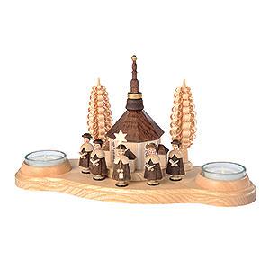 Lichterwelt Kerzenhalter Sonstige Kerzenhalter Seiffener Kirche - 11 cm