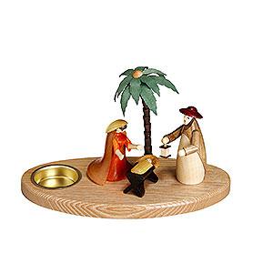 Lichterwelt Kerzenhalter Christi Geburt Kerzenhalter Weihnachtskrippe - 12cm