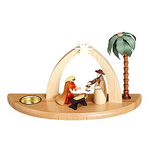 Lichterwelt Kerzenhalter Christi Geburt Kerzenhalter Weihnachtskrippe - 17cm