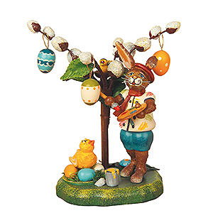 Kleine Figuren & Miniaturen Tiere Hasen Knickohr's Weidenstrauch - 11cm