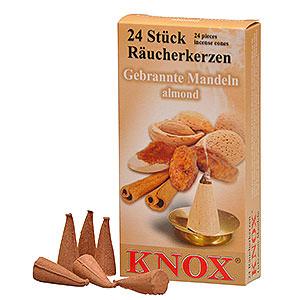 Smokers Incense Cones Knox Incense Cones - Almond