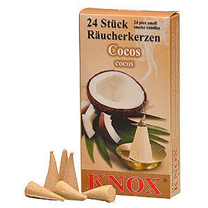 Smokers Incense Cones Knox Incense Cones - Coconut