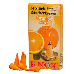Smokers Incense Cones Knox Incense Cones - Orange