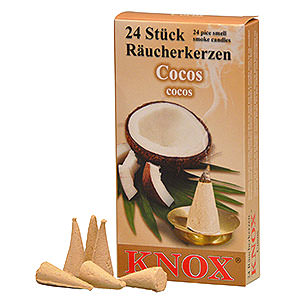 Smokers Incense Cones etc. Knox Incense cones - Coconut