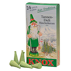 Smokers Incense Cones Knox Incense cones - Pine Tree