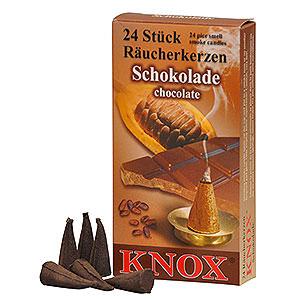 Räuchermänner Räucherkerzen & Zubehör Knox Räucherkerzen - Schokolade
