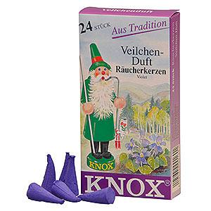 Räuchermänner Räucherkerzen & Zubehör Knox Räucherkerzen - Veilchenduft