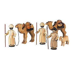 Kleine Figuren & Miniaturen Krippenfiguren (Müller) Krippenfiguren - Kamelkarawane - 13 cm