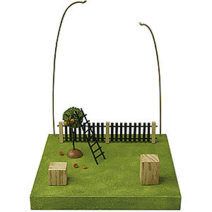 Weihnachtsengel Günter Reichel Schutzengel Kulisse 'Im Obstgarten' - 28cm
