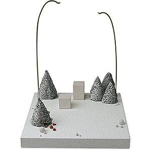 Weihnachtsengel Günter Reichel Schutzengel Kulisse 'Im Schnee' - 28 cm