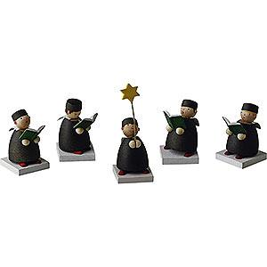 Weihnachtsengel Günter Reichel Schutzengel Kurrende 5-teilig - 3,5cm