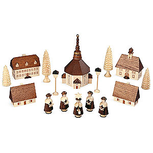 Kleine Figuren & Miniaturen Kurrenden Kurrende Seiffener Dorf - 12 cm