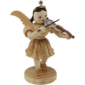 Weihnachtsengel Kurzrockengel (Blank) Kurzrockengel Violine mit SWAROVSKI ELEMENTS, natur - 6,6cm