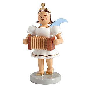 Weihnachtsengel Kurzrockengel farbig (Blank) Kurzrockengel farbig Harmonika - 6,6cm