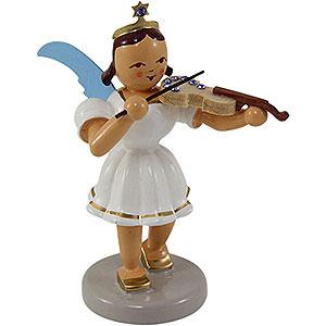 Weihnachtsengel Kurzrockengel farbig (Blank) Kurzrockengel farbig Violine mit SWAROVSKI ELEMENTS - 6,6cm