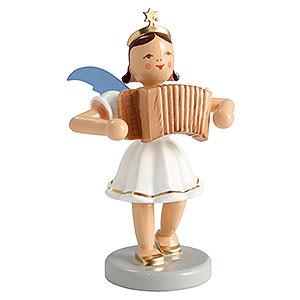 Weihnachtsengel Kurzrockengel farbig (Blank) Kurzrockengel farbig Ziehharmonika - 6,6cm
