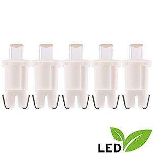 Lichterwelt Ersatzlampen LED-Flachkopflampen - warmweiß - 3V/0,048W