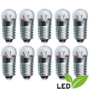 Kleine Figuren & Miniaturen Zubehör LED-Glühlampe - Sockel E5,5 - 3,5V