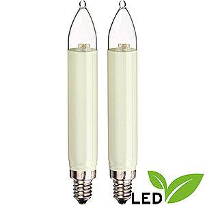 Lichterwelt Ersatzlampen LED-Kleinschaftkerze - Sockel E10 - warmweiß - 0.3W