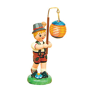 Kleine Figuren & Miniaturen Hubrig Lampionkinder Lampionkind Junge mit Kugellampion - 8cm