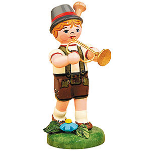 Kleine Figuren & Miniaturen Hubrig Lampionkinder Lampionkind Junge mit Trompete - 8 cm