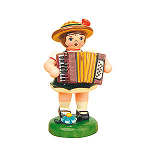 Kleine Figuren & Miniaturen Hubrig Lampionkinder Lampionkind Mädchen mit Akkordeon - 8cm