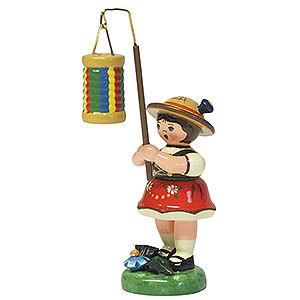 Kleine Figuren & Miniaturen Hubrig Lampionkinder Lampionkind Mädchen mit Streifenlampion - 8cm