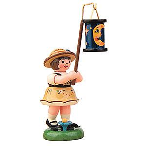Kleine Figuren & Miniaturen Hubrig Lampionkinder Lampionkind M�dchen mit blauen Mondlampion - 8cm