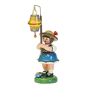 Kleine Figuren & Miniaturen Hubrig Lampionkinder Lampionkind Mädchen mit kegelförmigem Lampion - 8 cm