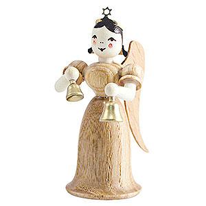 Weihnachtsengel Langrockengel (Blank) Langrockengel mit Glocken, natur - 6,6cm
