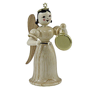Weihnachtsengel Langrockengel (Blank) Langrockengel mit Gong, natur - 6,6cm