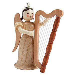 Weihnachtsengel Langrockengel (Blank) Langrockengel mit Harfe, natur - 6,6cm