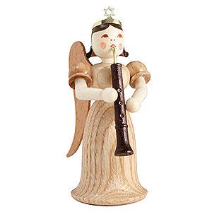 Weihnachtsengel Langrockengel (Blank) Langrockengel mit Oboe, natur - 6,6cm