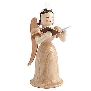 Weihnachtsengel Langrockengel (Blank) Langrockengel mit Sänger, natur - 6,6cm