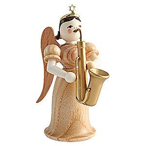 Weihnachtsengel Langrockengel (Blank) Langrockengel mit Saxophon, natur - 6,6cm