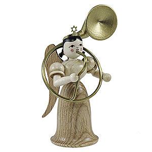 Weihnachtsengel Langrockengel (Blank) Langrockengel mit Sousaphon, natur - 6,6cm