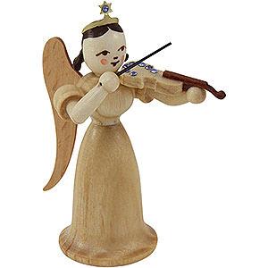 Weihnachtsengel Langrockengel (Blank) Langrockengel mit Violine und SWAROVSKI ELEMENTS, natur - 6,6 cm