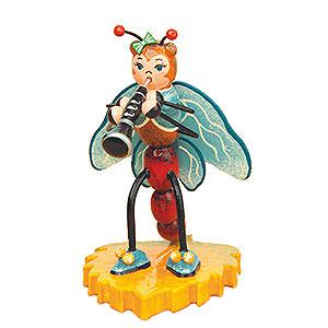 Kleine Figuren & Miniaturen Tiere Käfer Libelle mit Klarinette - 8 cm